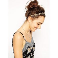 HA038 - Golden Floral Headchain
