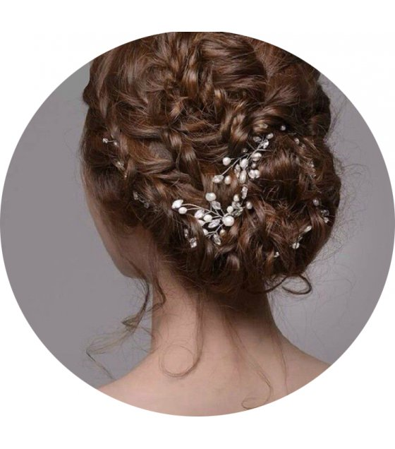 HA055 - Floral Pearl Hair Brooch