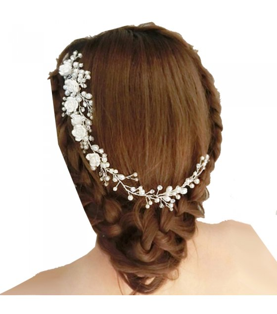 HA060 - White Floral Hair pin