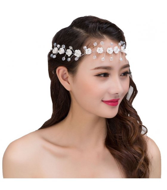 HA061 - White Floral Head Chain