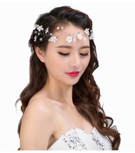 HA062 - Bridal handmade headdress lace