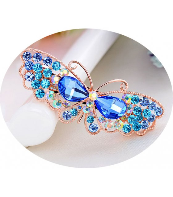 HA076 - Butterfly rhinestone Hairpin