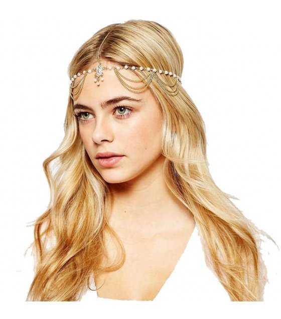 HA077 - Pearl tassel hair band