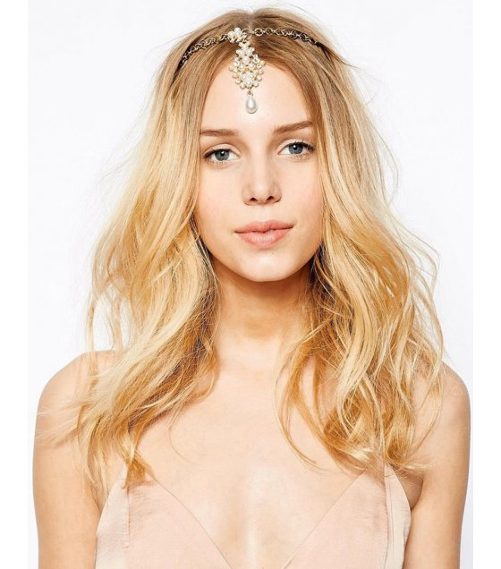 HA083 - Exquisite pearl Head chain
