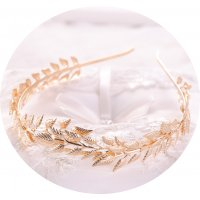 HA092 - Leaf Bridal Crown