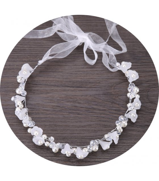 HA101 - Handmade crystal flower headdress
