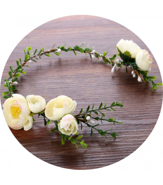 HA103 - Flower wreath bridesmaid hair band