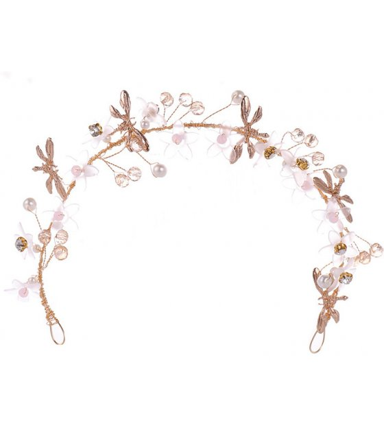 HA105 - Crystal flower hair band