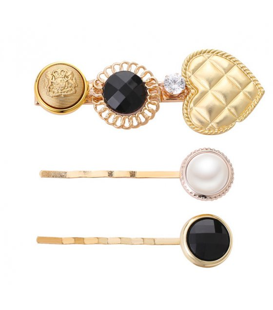 HA108 - Crown pearl Three Piece Hair clip