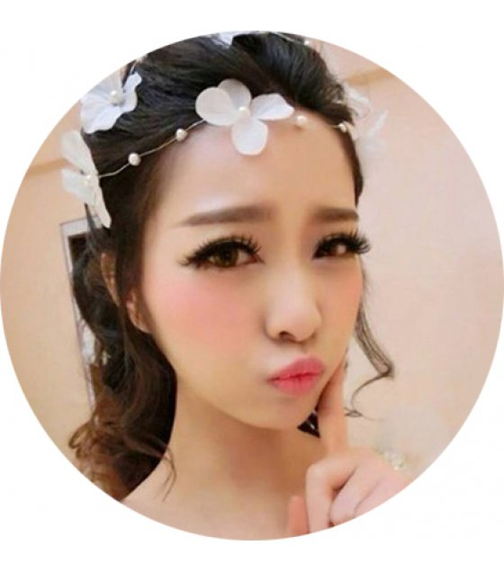 HA111 - Korean Floral Bridal Hairpin