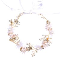HA112 - Pink Floral Wedding Hairband
