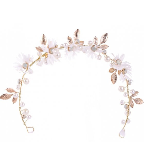 HA114 - Simple Flowers Leaf Hair Band Bridal Headdress