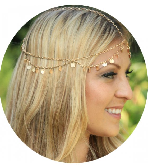 HA116 - Wave tassel chain headband