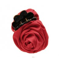 HA129 - Korean rose flower hair clip