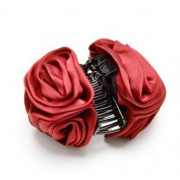 HA130 - Korea big rose flower clip