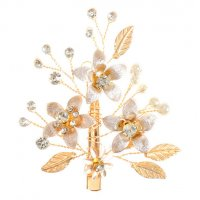 HA132 - Golden Flower Hair Clip
