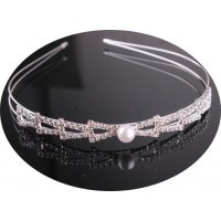 HA136 - Korean fashion elegant rhinestone Hairband