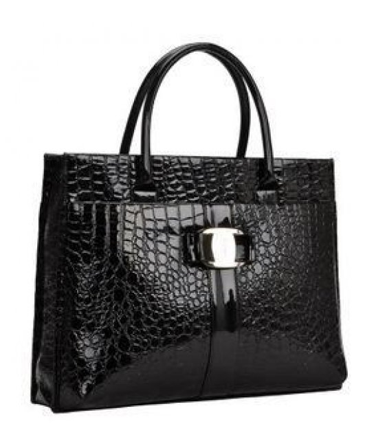 H009- Vintage Crocodile Pattern Handbag