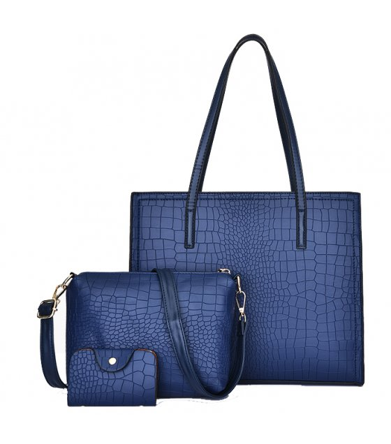 H1002 - Crocodile pattern three-piece handbag