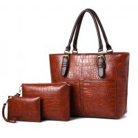 H1003 - Elegant 3pc Handbag Set