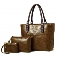 H1004 - Elegant 3pc Handbag Set