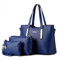 H1009 - 3pc Woven Handbag Set