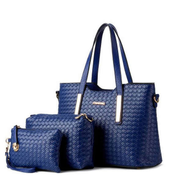 H1009 - 3pc Woven Handbag Set
