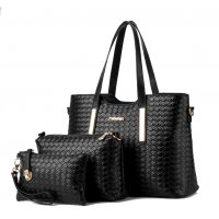 H1010 - 3pc Woven Handbag Set