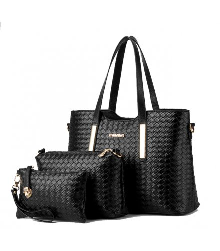 H1010 - 3pc Woven Handbag Set