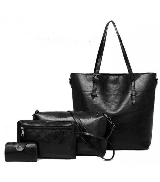 H1015 - Korean 4pc Messenger Handbag Set