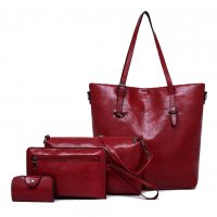 H1016 - Korean 4pc Messenger Handbag Set