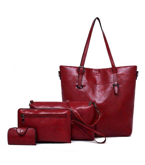 H1016 - Korean 4pc Messenger Handbag Set