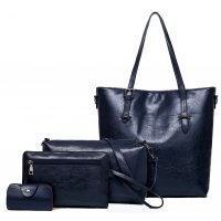 H1017 - Korean 4pc Messenger Handbag Set