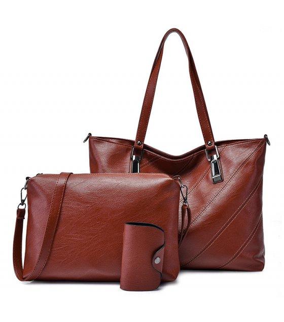 H1026 - Retro 3pc Handbag Set
