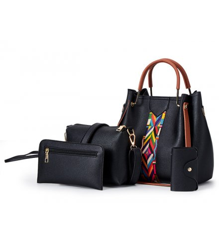 H1034 - Three Piece Bucket Tassel Shoulder Handbag Set