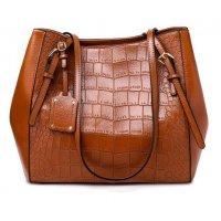 H1035 - Crocodile pattern tote bag
