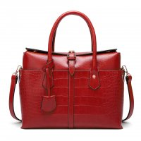 H1038 - Crocodile pattern handbag