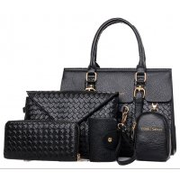 H1068 - Diagonal Fashion Shoulder Handbag Set