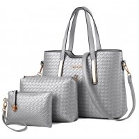 H1098 - 3pc Woven Handbag Set