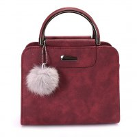 H1119 - Winter Fur Ball Messenger Bag