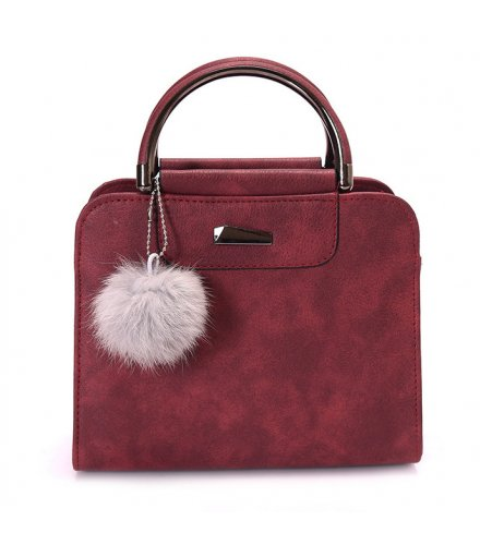 H1119 - Winter Fur Ball Messenger Bag