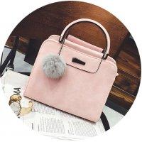 H1120 - Winter Fur Ball Messenger Bag