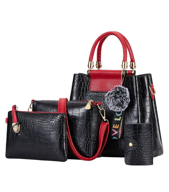 H1139 - Crocodile pattern Handbag Set