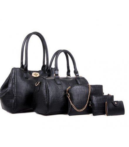 H1148 - Crocodile pattern Handbag Set