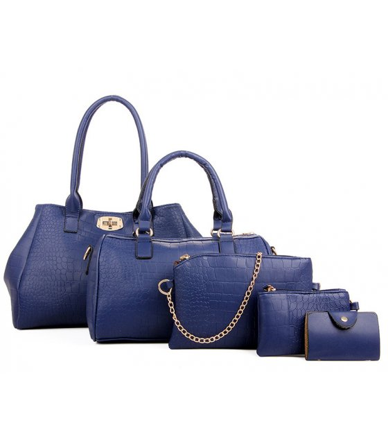 H1149 - Crocodile pattern Handbag Set