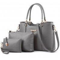 H1174 - European Fashion Three Piece Handbag Set