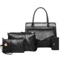 H1184 - Simple Tassel Women's 4Pcs Handbag Set