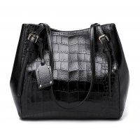 H1186 - Crocodile pattern tote bag