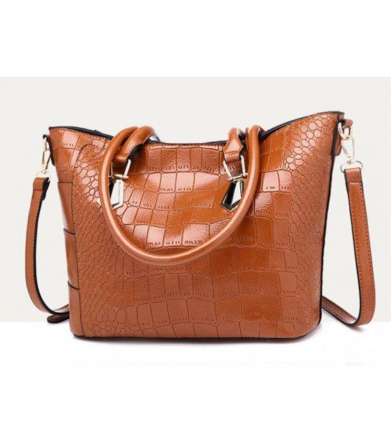 H1192 - Elegant Crocodile Pattern Casual Handbag