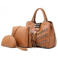 H1210 - Fashion Rivet Ladies Handbag Set